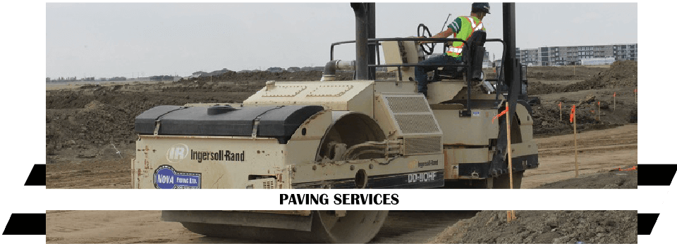 Paving Services - roller machine